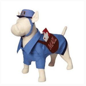 old navy dog cat pet mailman costume medium nwt